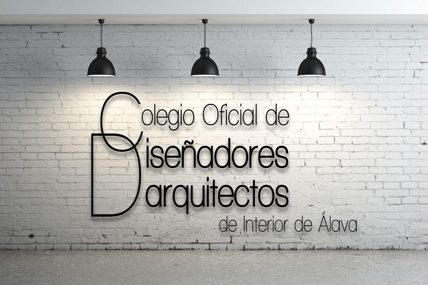 Pared logo Colegio Oficial de Diseñadores/Arquitectos de Interior de Alava